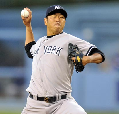 Hiroki Kuroda, a former Dodger, keeps LA scoreless through seven innings of work while striking out eight.  (USATSI)