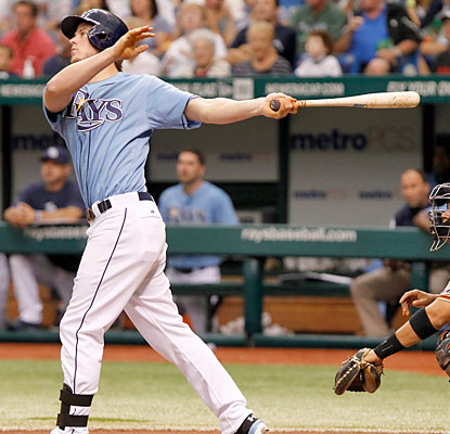 Wil Myers blasts his eighth home run of the season as the Rays improve to 11-0-2 in their last 13 series. (USATSI)