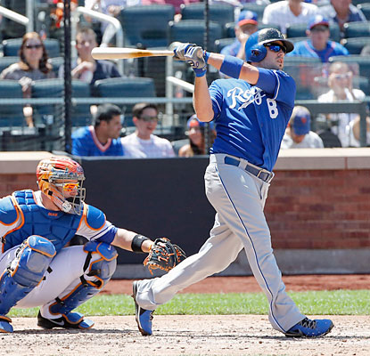 Mike Moustakas blasts his 10th home run of the season to help the Royals win for the 11th time in the past 12 tries. (USATSI)