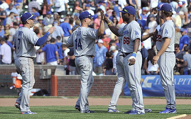 The Dodgers' big month in their road grays helped catapult them into first place.