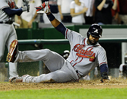 Jason Heyward scores two runs in the Braves' win and also contributes two hits, including a double. (USATSI)