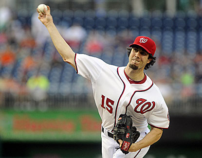 Washington's Dan Haren (7-11) limits the Phillies to two runs and four hits over seven innings. (USATSI)