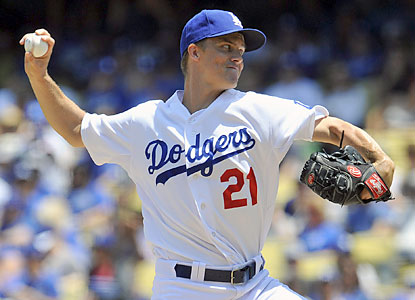 The Dodgers' Zack Greinke throws 6 1/3 shutout innings en route to his 10th win of the season. (USATSI)