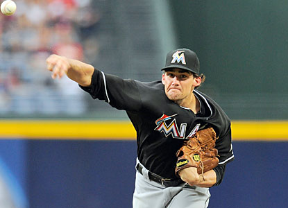 Nate Eovaldi yields one hit through seven innings as the Marlins end Atlanta's bid for its longest win streak in club history. (USATSI)