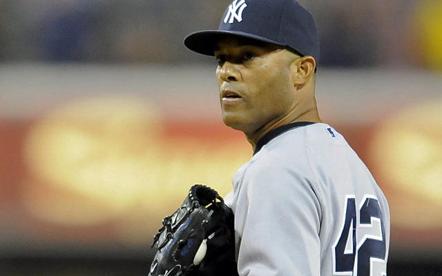 Is Father Time finally catching up to the 43-year-old Yankees closer? 'No, there's a lot left in the tank,' Rivera says.  (USATSI