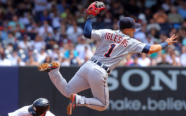 Jose Iglesias might have to tone down his high-flying defensive act with the Tigers. (USATSI)