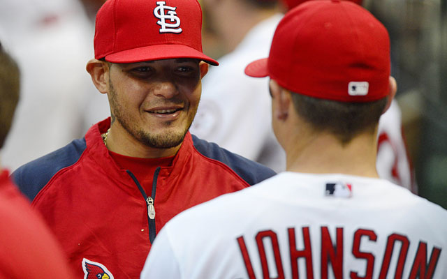 The Cards might want to give Yadier Molina a break; he says, 'now is not the time to rest.' (USATSI)