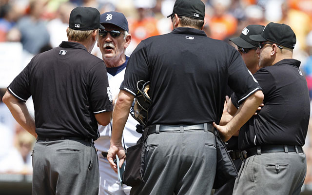 Under the proposed changes, Jim Leyland could ask the umpires for a review intead of arguing a call. (USATSI)