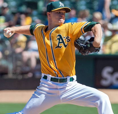 Sonny Gray whiffs nine in his home debut and goes on to earn his first major-league victory.  (USATSI)
