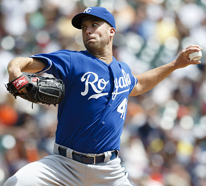Just over a year after Tommy John surgery, Danny Duffy dazzles the Tigers in his second big-league start.  (USATSI)
