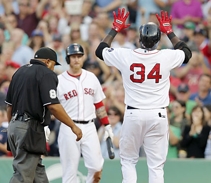 David Ortiz (34) hits his 24th home run of the season to help the Red Sox end their losing skid. (USATSI)