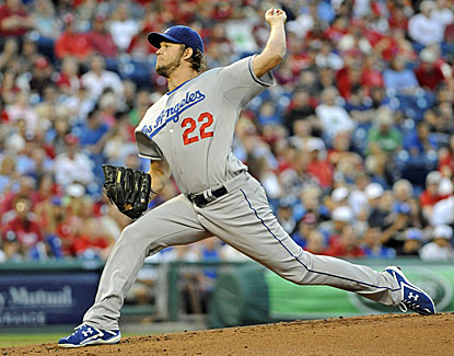 Clayton Kershaw is stellar against the Phillies, striking out eight and giving up just three hits over eight innings. (USATSI)