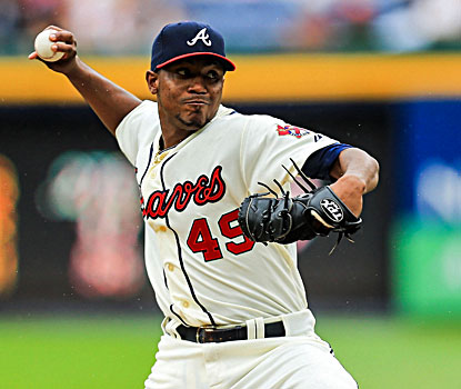 Julio Teheran strikes out five and gives up five hits with three walks in the Braves' win. (USATSI)