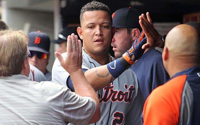 With another huge season, Miguel Cabrera is on his way to making it three straight AL MVP winners for the Tigers. (USATSI)