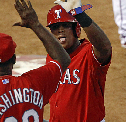 The Rangers dominate the Astros after scoring 11 runs in the third inning despite not hitting a home run.  (USATSI)