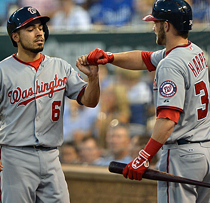 The Nationals rally from six back to barely hold off the Royals, who make their own charge in the ninth.  (USATSI)