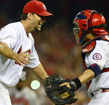Starter Adam Wainwright improves to 15-7 with his fifth complete game of the season for the Cardinals.  (USATSI)
