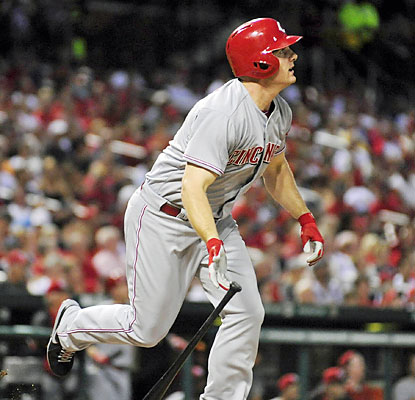 Jay Bruce provides 5 RBI in the first two innings, including a three-run blast off Adam Wainwright. (USATSI)