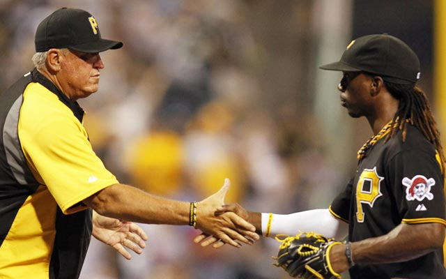 Clint Hurdle and Andrew McCutchen have the Pirates on the verge of a postseason berth and a winning season. (USATSI)