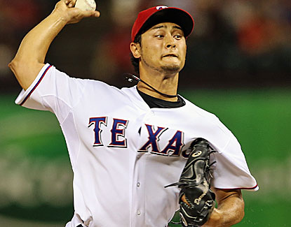 Everything goes right for the Rangers' Yu Darvish until it all goes wrong in the 7th inning against the Twins. (USATSI)