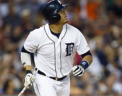 Victor Martinez doubles twice and drives in two runs as the AL Central-leading Tigers roll their division lead to 7 1/2 games.  (USATSI)