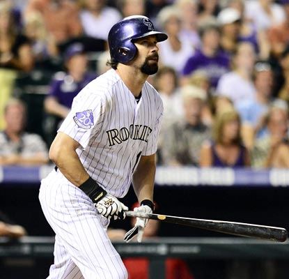 Todd Helton matches a career high with six RBI in his first multihomer game since 2011.  (USATSI)