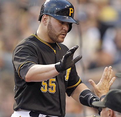 Pirates catcher Russell Martin comes up big with a three-run home run in the third inning. (USATSI)