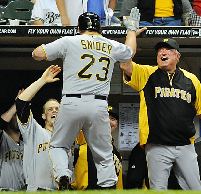 Travis Snider puts the Pirates ahead in the ninth inning with a pinch-hit home run. (USATSI)