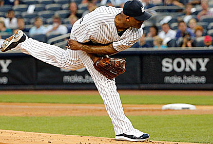 CC Sabathia pitches 7 1/3 effective innings for the Yankees, who have won 17 of their past 24 games to close in on a wild card. (USATSI)