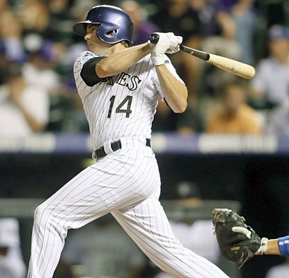 The Rockies get plenty of offense out of Josh Rutledge, who finishes with three hits, including a triple. (USATSI)