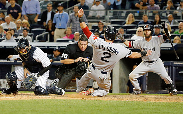 The Yankees waste a late-inning rally in a costly loss to Boston. (USATSI)