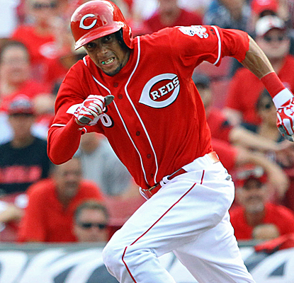 Speedster Billy Hamilton is a perfect 4 for 4 in steals since being called up, including a huge one on Saturday.  (USATSI)
