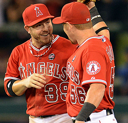 The Angels send the Rangers to their fifth loss in their last six games as Texas slides in the West.  (USATSI)