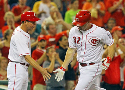 Jay Bruce blasts home runs 28 and 29 on the season as he helps the Reds complete the sweep of the Dodgers. (USATSI)
