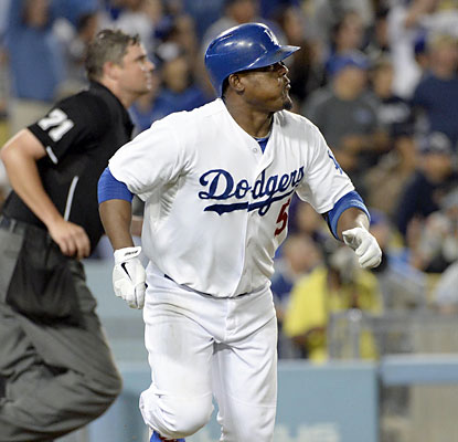 Juan Uribe begins the game 3 for 3 -- all home runs -- to help the Dodgers power past the NL West-rival D-Backs. (USATSI)