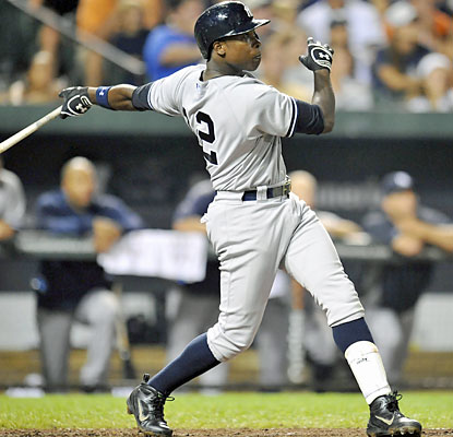 Alfonso Soriano (right) homers twice to help the Yanks snap their six-game skid in Baltimore. (USATSI)