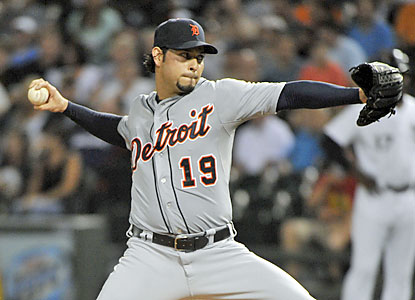 The Tigers' Anibal Sanchez lowers his AL-best ERA to 2.50 as he stifles the White Sox. (USATSI)