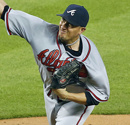 Getting a spot start for the Braves, Freddy Garcia earns the win with six innings and only five hits allowed.  (USATSI)