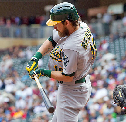 Josh Reddick adds some Oakland insurance with his 11th home run, a two-run shot in the eighth inning.  (USATSI)