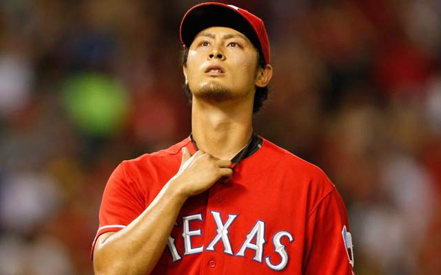 Yu Darvish and the rest of the Rangers are clinging to a wild-card spot. (Getty Images)