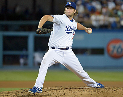 Dodgers ace Clayton Kershaw falls to 14-9, allowing two earned runs over seven innings. (USATSI)