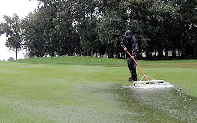 The final round of the BMW Championship is suspended Sunday because of steady rain. (USATSI)