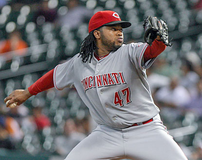 Johnny Cueto looks sharp in his first start since June 28. The righty whiffs five in five scoreless innings of work. (USATSI)
