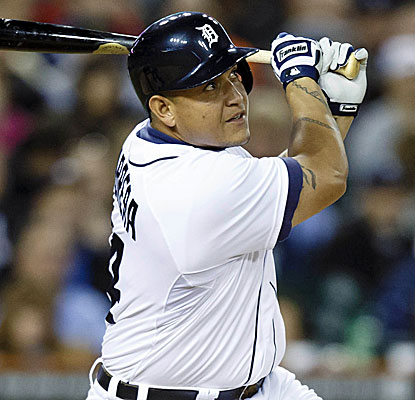Miguel Cabrera's solo shot in the sixth inning is his 44th of the year, but his first since Aug. 26. (USATSI)