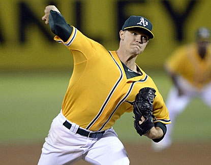 Starter Sonny Gray goes six solid innings for Oakland, giving up one run and striking out five Angels hitters. (USATSI)