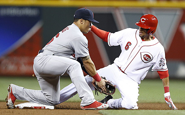 Speed machine Billy Hamilton has helped the Reds this month, even if just a little. (Getty Images)
