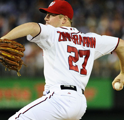 Jordan Zimmermann goes the distance and yields only two hits to earn his NL-best 19th victory.  (USATSI)