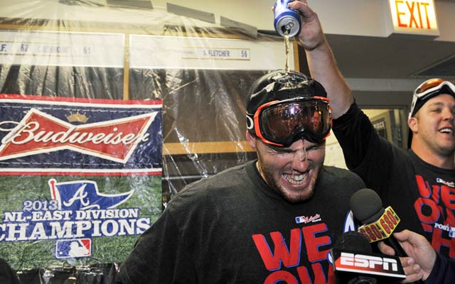 Thanks in large part to Freddie Freeman, the Braves celebrate an NL East title. (USATSI)