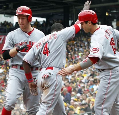 The Reds bats come to life Sunday in Pittsburgh in a big win for Cincy's playoff hopes.  (USATSI)