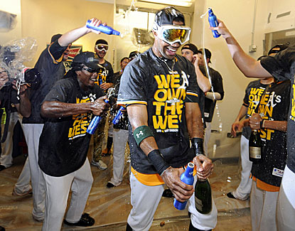 The A's, with a roster full of mostly anonymous and up-and-coming players, certainly deserve to celebrate. (USATSI)